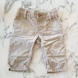 Khaki Pull-On Pants for Baby, Size 3-6 Months